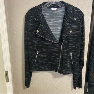 Juniors' Candie's Knit Moto SOFT Jacket Zip Front